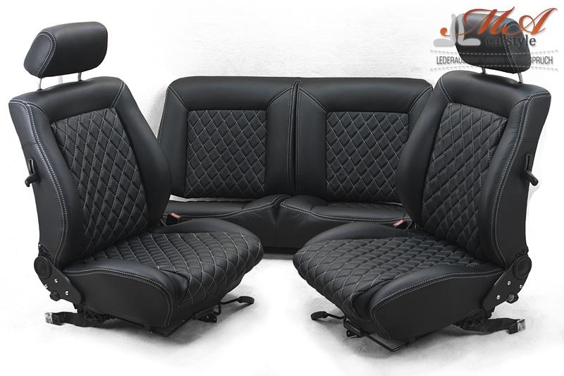 ledersitze vordersitze und r ckbank vw golf i cabrio. Black Bedroom Furniture Sets. Home Design Ideas
