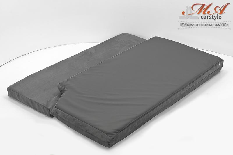 komfortmatratze matratze 3 teilig vw t4 multivan stoff grau 199. Black Bedroom Furniture Sets. Home Design Ideas