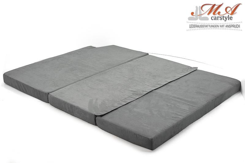 matratze 3 teilig vw t4 caravelle grau 199 00. Black Bedroom Furniture Sets. Home Design Ideas