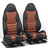 Leather sport seats