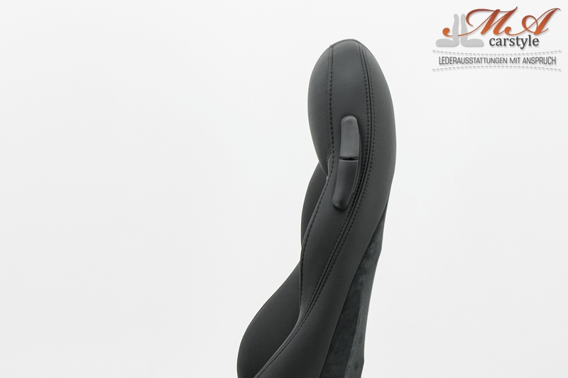 """Re-upholstering """"M"""" seats with leather [BMW Z3 """"M""""] Black-Black (Perforated)-Black"""