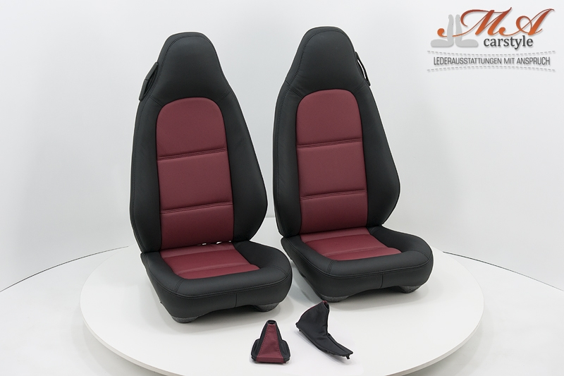 neu beziehen der 2 sitze standard mit echtleder bmw z3. Black Bedroom Furniture Sets. Home Design Ideas