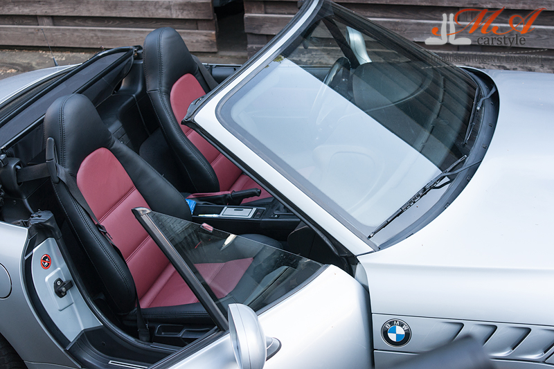 Re-upholstering seats with leather [BMW Z3] Black-Bordeaux (4533)-Black