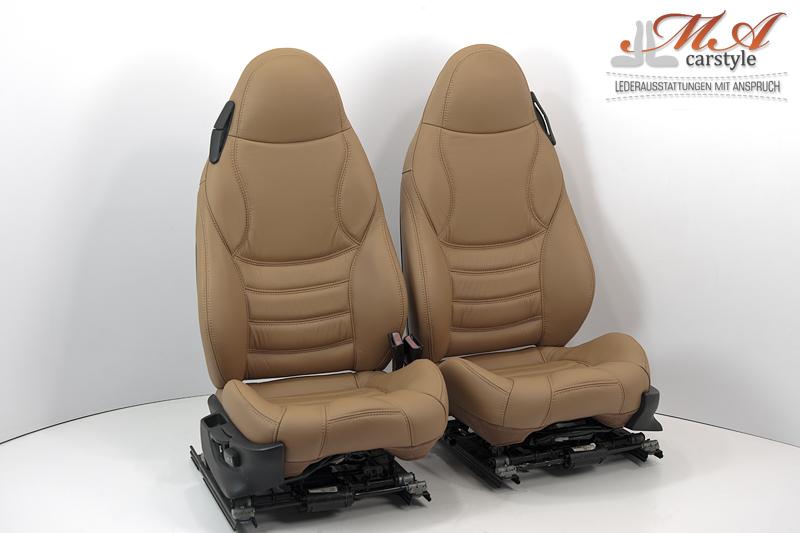 Lederbezüge für Sportsitze [BMW Z3] Echtleder Braun (Cuoio