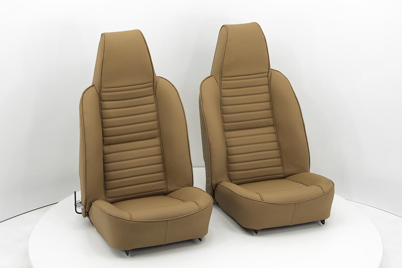 Lederbezüge für Sitze [Triumph TR6 USA] Echtleder Braun (Cu