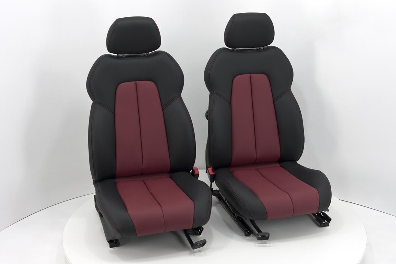 neu beziehen der 2 sitze mit echtleder mercedes benz slk. Black Bedroom Furniture Sets. Home Design Ideas