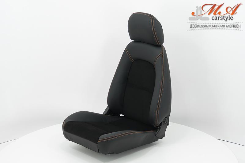 Neu Beziehen Der 2 Sitze Mit Echtleder Mazda Mx 5 Nb Schwarz Schwar