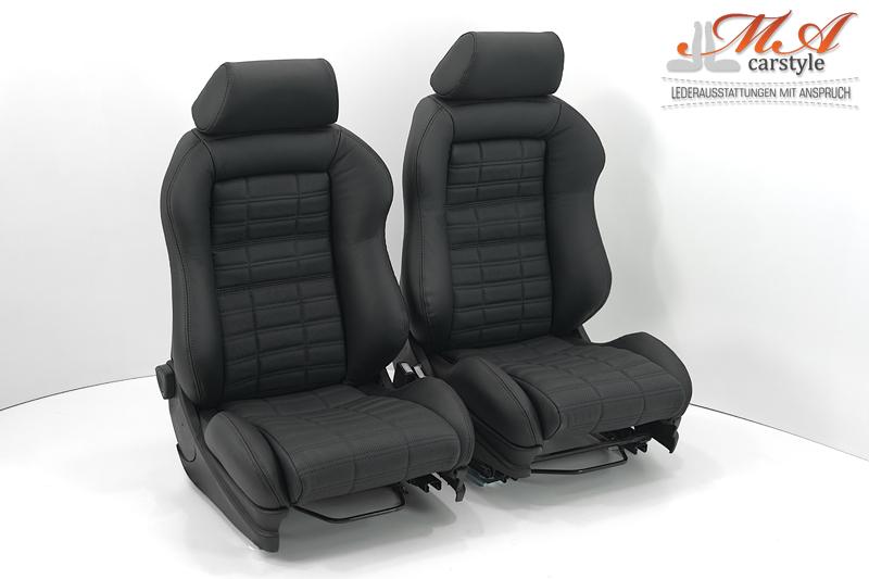 neu beziehen der 2 sitze mit echtleder recaro sportsitze. Black Bedroom Furniture Sets. Home Design Ideas