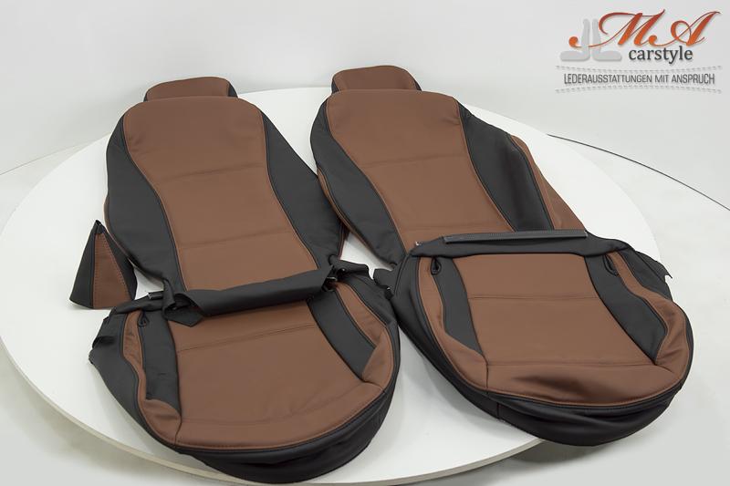 Lederbezüge für Sitze [BMW Z4 E85/E86] Echtleder Schwarz-Br