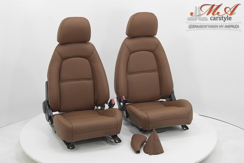 Neu-Beziehen der 2 Sitze mit Echtleder [Mazda MX-5 NA Europe] Braun (