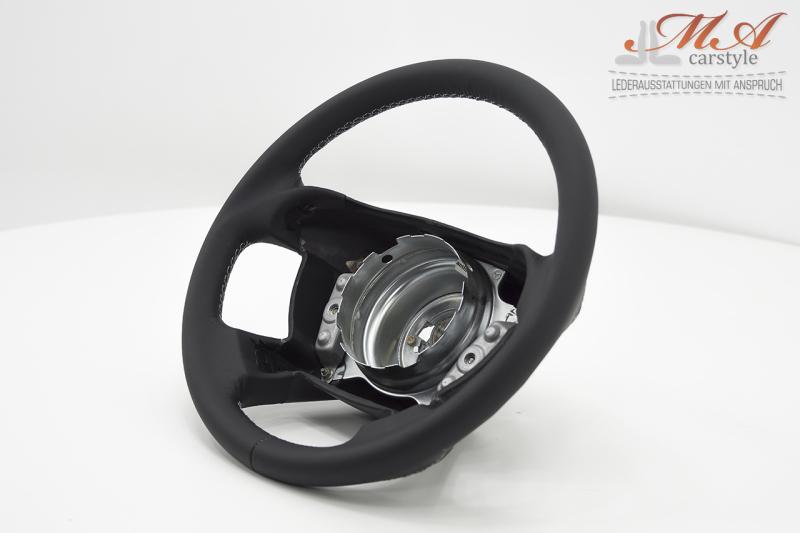 Neu-Beziehen des Lenkrads [Mercedes-Benz SLK R170] Echtleder Schwarz-Schwarz-Silber