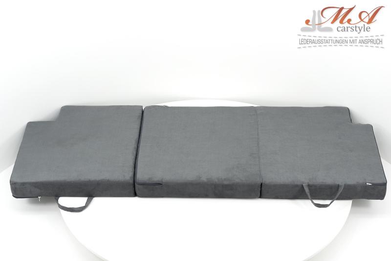 Zusatzbett / Gästebett / Kinderbett, 3-teilig [Wohnmobil Dinette] Stoff Grau