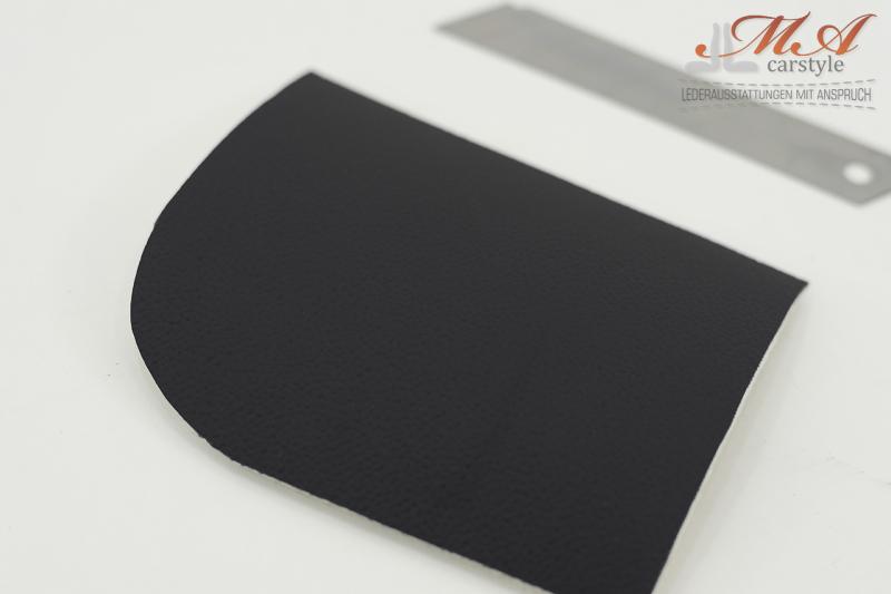 Kunstleder für Automobilindustrie mit Schaumunterlage von 3 mm. Schwarz, 1 lm  (Maserati Struktur) | Breite 140 cm