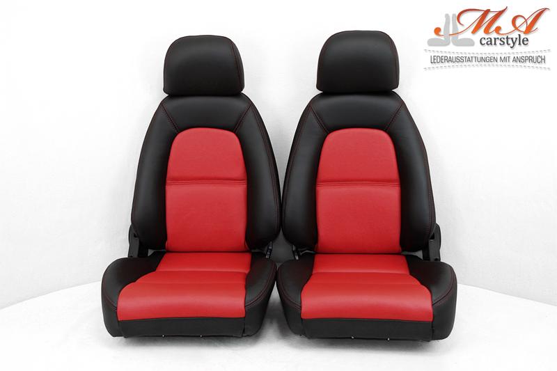 Neu-Beziehen der 2 Sitze mit Echtleder [Mazda MX-5 NA Europe] Schwarz