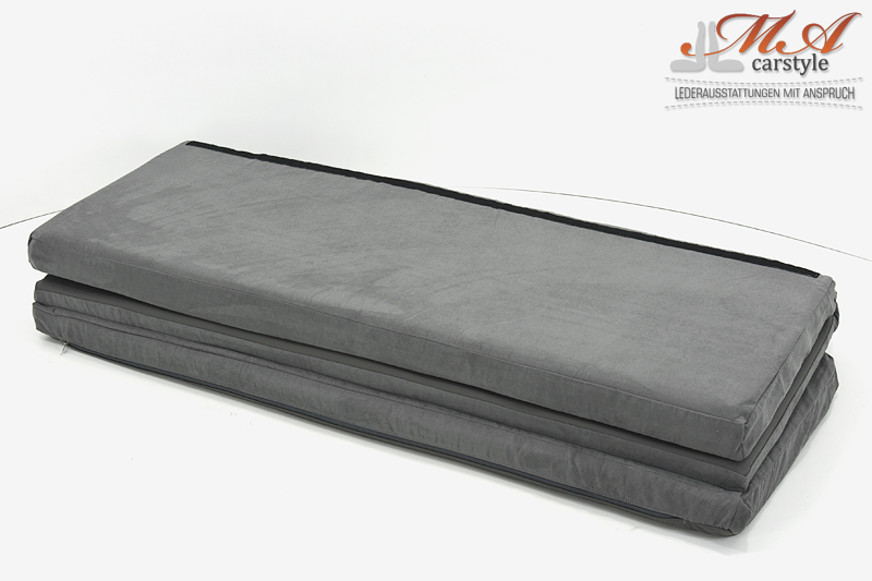 Komfortmatratze / Matratze, 3-teilig [VW T4 Multivan] Stoff Grau