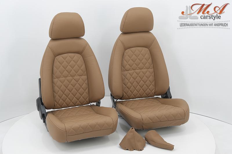 Neu-Beziehen der 2 Sitze mit Echtleder inkl. Sitzheizung [Mazda MX-5