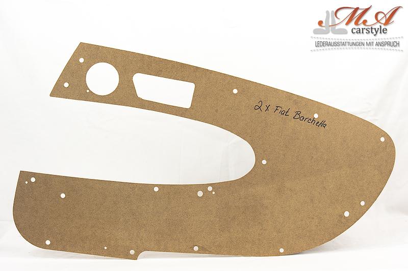 Hartfaserplatten (Rohlinge) für Türverkleidungen, 2 Stk. [Fiat Barchetta]