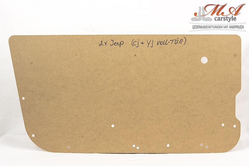 Hartfaserplatten (Rohlinge) für Türverkleidung, 2 Stk. [Jeep Wrangler]