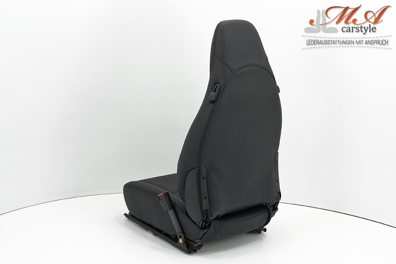 Re-upholstering seats with leather [Porsche 911 Cabrio (993)] Black-Black (Perforated)-Black