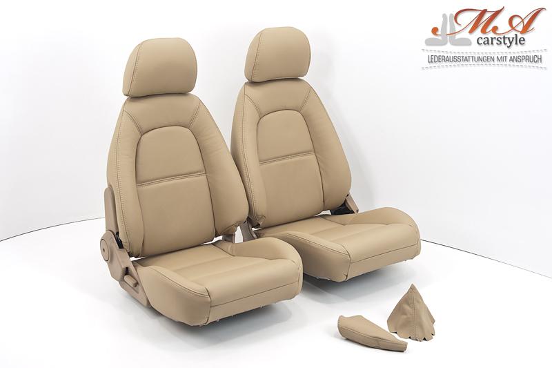 Neu-Beziehen der 2 Sitze mit Echtleder [Mazda MX-5 NA Europe] Beige (