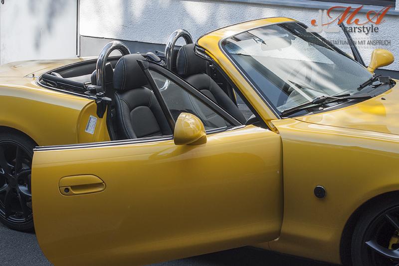 Neu Beziehen Der 2 Sitze Mit Echtleder Mazda Mx 5 Nb