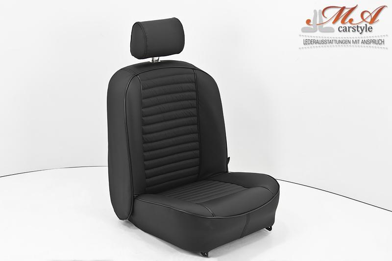 neu beziehen der 2 sitze mit echtleder inkl schaum gummimatten und. Black Bedroom Furniture Sets. Home Design Ideas